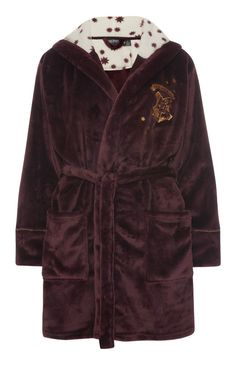 Medium or large for extra snuggliness PRIMARK LADIES OFFICIAL HARRY POTTER SHORT DRESSING GOWN ROBE HOODED
