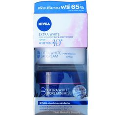 Nivea Extra White Pore Minimizer Day and Night Cream Skin Whitening Set SPF 30 #Nivea
