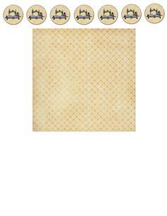 El tamaño de la cartulina es de 8.5 X 11 pulgadas.  El diametro de la tapa del costurero es de 2.5cm. Y el alto del costurero es de 1.5c...