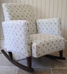 The Chronicles of Home: {DIY}ish Upholstered Child's Rocking Chair; GREAT TUTORIAL