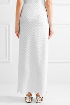 Alaïa - Jamaica Stretch-knit Maxi Skirt - White - FR44