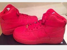 competitive price 630d1 23d71 Hot pink customized air force 1 hightops. Zapatos Lindos, Zapatillas, Moda  Feminina,