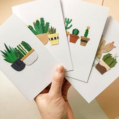 Cacti cards 🌵 —————————— Lissovacraft.etsy.com 3d Paper Art, Paper Toy, Origami Paper Art, Paper Artwork, Kids Crafts, Diy And Crafts, Paper Plants, Greeting Cards Handmade, Diy Cards