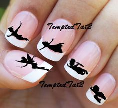 Peter Pan Nail Decals by TemptedTat2 on Etsy