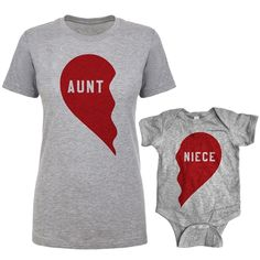 baby clothing New Southern Designs Aunt Nephew Split Heart Matching Shi. baby clothing New Southern Designs Aunt Nephew Split Heart Matching Shirt Baby Romper onl Aunt And Niece Shirts, Nephew And Aunt, Baby Outfits, Auntie Baby Clothes, Baby Born Quotes, Best Aunt, Matching Shirts, Matching Set, Matching Outfits