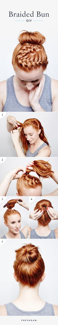 This Braided Bun tutorial is the perfect hairstyle for your next workout