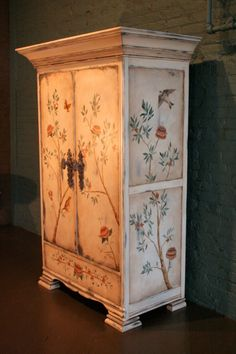 Amazing and unique armoire hand painted by Linda Gale Boyles. Southern Inspirations by Linda Gale