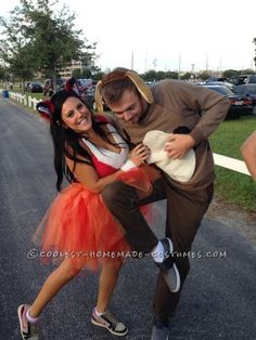 My fiance and I came up with the idea for the Fox and the Hound a few months before Halloween, but we weren't really sure how to execute it cheaply wi...