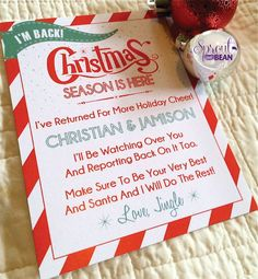 Christmas Season Is Here Personalized Elf Arrival Card from the North Pole Christmas Countdown, Christmas Humor, Christmas Holidays, Elf Games, Funny Christmas Presents, North Pole Breakfast, Elf Magic, Naughty Elf, Christmas Preparation
