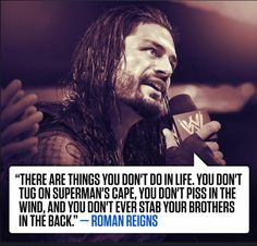One of my favorite quotes from Roman Reigns! #WWE