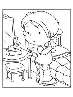 Coloring page. Information Age, Me Clean, Coloring Pages For Kids, Snoopy, Cleaning, Character, Lava, Coloring Pages, Ear