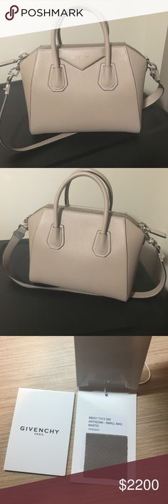Givenchy Small Antigona (Brand New) Brand new. It is from the 2017 spring collection in the color mastic. I purchased in February and am selling because I found a different purse that caught my eye. It will come will dust bag as well. Not interested in trades. Givenchy Bags