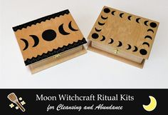 Moon Witchcraft Ritual Kits - Moon Organizer - Moon Witchcraft Ritual Kits Dark Moon Cleansing Kit from Moon Organizer - Moon Witchcraft - Essential Oil Mixtures, Essential Oils, New Moon Rituals, Cinnamon Oil, Moon Calendar, Moon Witch, Flower Alphabet, Moon Rock, Dark Moon