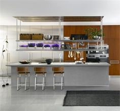 central island w shelves & ceiling section Lignum et Lapis from Arclinea http://www.homeportfolio.com/catalog/Product.jhtml?prodId=238744