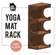 Download Free DIY Yoga Mat Rack Plans