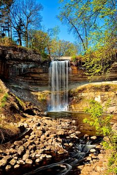 Minnehaha Falls is a photograph by Susan Rissi Tregoning. Minnehaha Falls is located in Minnehaha Park in the city of Minneapolis, Minnesota. The park was designed by landscape architect Horace W. S. Cleveland in 1883 as part of the Grand Rounds Scenic Byway and was listed on the National Register of Historic Places in 1969. Source fineartamerica.com