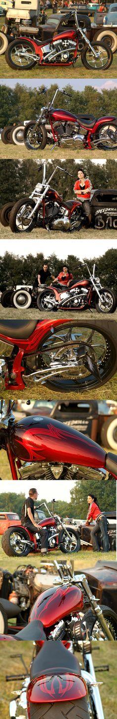 #Thunderbike Luxury Red (customized #Harley Softail)