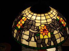 elephant lamp by Aruna Upadhya (KaanchStainedglass), via Flickr