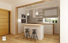 Metamorfoza kuchni i jadalni - Średnia otwarta kuchnia w kształcie litery l w aneksie z wyspą, styl nowoczesny - zdjęcie od All Design Agnieszka Lorenc