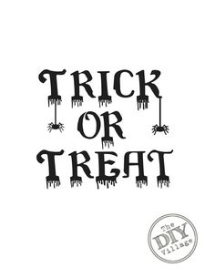 Free Halloween Printable Trick or Treat