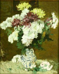 Poetul plastic al florilor, Ștefan Luchian Social Art, Painting Still Life, Claude Monet, Art Nouveau, Art Gallery, Abstract, Plants, Painters, Bun Bun