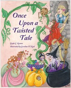 """Filled with different poetry forms, Once Upon a Twisted Tale, is a rollicking MG poetry collection complete with forty-one """"fractured fairytales."""" From a frog, who thinks he's Sleeping Beauty, to a cool-rappin' fairy godmother who sends Cinderella to a Hip-Hop Ball, to seven swan verses gliding across the page, to a boy who waits beneath a stone bridge to trick trolls. Fairytale fun! #fracturedfairytales #poetry"""