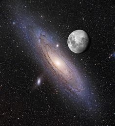 Moon Over Andromeda  Image Credit & Copyright: Adam Block and Tim Puckett