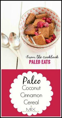 Healthy Paleo Recipe - Coconut Cinnamon Cereal | www.mixwellness.com #paleo #recipe #food