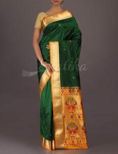 Dharini Paithani Inspired Plush #Bangalore #WeddingSilkSaree