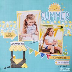 Lemonade Layout made with the super cute Bar-B-Cute line from Doodlebug Design and the Lemonade set from Maker's Movement. Sewing Table, My Princess, Design Crafts, I Fall In Love, Photo Sessions, Lemonade, Card Stock, My Photos, Super Cute