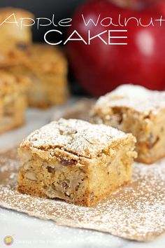 Apple Walnut Cake is perfect for snacking and easy to make!  | Cooking on the Front Burner