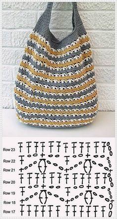 Crochet Patterns Bag Slouchy Market Bag, free pattern from Very Berry Handmade.Luty Arts Crochet: Taschen in Crochet + Graphics. - Asuman Dogan - - Luty Arts Crochet: Taschen in Crochet + Graphics.Crochet Patterns Bag Did you send it well? I am going Bag Crochet, Crochet Market Bag, Crochet Diy, Crochet Handbags, Crochet Purses, Crochet Chart, Love Crochet, Crochet Clothes, Crochet Stitches