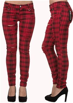 Banned Apparel - MOVE ON UP TROUSERS RED