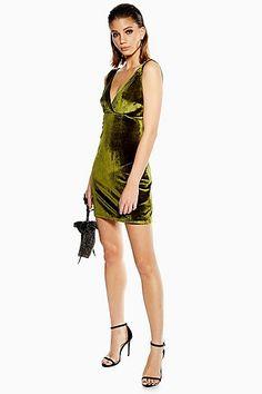 5b5bd4adc34 Distractions - Green Velvet Mini Dress WYLDR