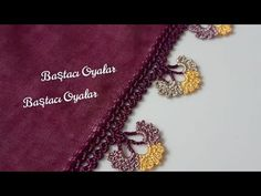 Crochet Borders, Crochet Lace, Saree Tassels, Crochet Videos, Baby Knitting Patterns, Hand Embroidery, Needlework, Diy And Crafts, Bling