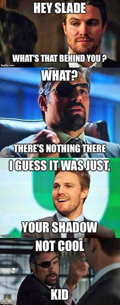 Only someone as cool as Stephen Amell, could get away with taunting Manu Bennett. Meet them at Salt Lake Comic Con 2014!