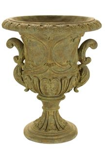 Ornate Urn Urn Planters, Resin Material, Pretty Flowers, Amazing Gardens, Natural Stones, It Cast, Outdoor Decor, Forever Green, Green Art