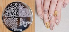 1 Nail Art Stamping Plate Nail Stamp Stainless Steel Stamping Butterfly Flowers Vines Design Hot Trend For Nails #38