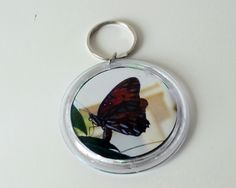 Butterfly Photo Key Chain
