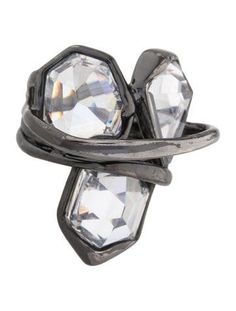 Alexis Bittar Miss Havisham Liquid Three Stone Ring