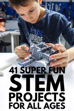 From elementary school to middle school to high school, we've rounded up 41 STEM projects and activities for kids of all ages! Stem Projects For Kids, School Science Projects, High School Activities, Stem For Kids, Science Experiments Kids, Science For Kids, Stem Activities, Steam Education, Elementary Schools