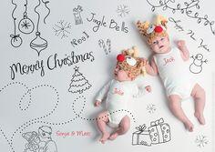 Fotoshoot PORTRET Newborns Kerstkaartje  © de fotoboetiek / www.twindesignbvba.be