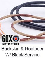 buckskin and rootbeer with black serving custom bow string