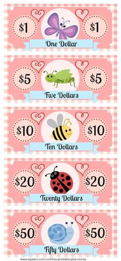 As a kid I loved playing with fake money and well the real one but my parents weren& all that keen on that. I was running my own pretend store, was buying up properties in Monopoly and just enjoying having a few piles of money at hand. Fake Money Printable, Teaching Kids, Kids Learning, Play Money Template, Cliparts Free, Dramatic Play Centers, Free Preschool, Pretend Play, Kids Playing