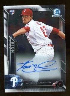 d6aced85e91 2016 Bowman Chrome Aaron Nola RC Rookie AUTO Philadelphia Phillies   BaseballCards Aaron Nola