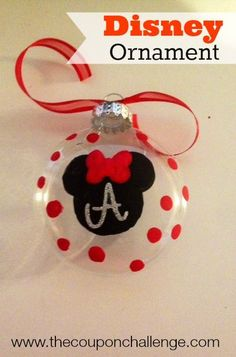Super cute disney christmas tree ornament make a homemade minnie super cute disney christmas tree ornament make a homemade minnie mouse ornament or skip the bow and make a mickey mouse ornament solutioingenieria Gallery
