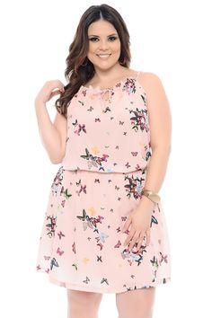 Vestido Estampado Plus Size - Chic e Elegante