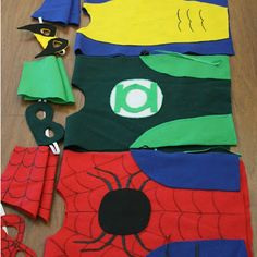 NO SEW Superhero Costumes (That's right, you can use hot glue and felt to create these costumes for your little super hero!) Thanks to @Dragonfly Designs