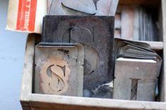 French industrial lettering stencils.