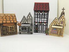 Tonic Cards, Shots Ideas, Big Shot, Little Houses, Tudor, Holiday Decor, Handmade, Home Decor, Tiny Houses